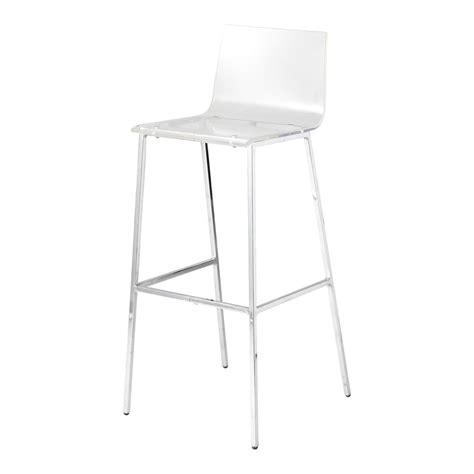 maison du monde chaise de bar chaise de bar en plastique acrylique et métal transparente