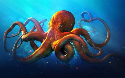 Slouching Octopus Hd Graphics 4k Wallpapers Images Backgrounds Photos And Pictures