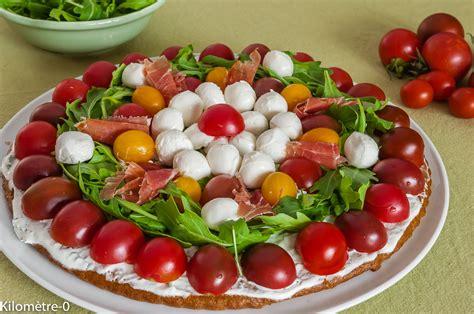 cuisiner mozzarella tarte salée aux tomates cerises mozzarella et roquette
