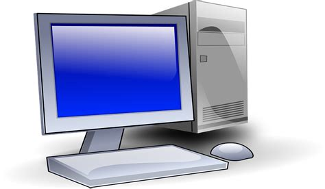 ordinateur pc bureau image vectorielle gratuite ordinateur ordinateur de