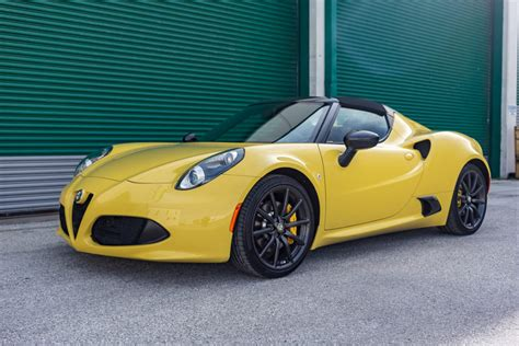 Alfa Romeo 4c Sale by 4500 Mile 2016 Alfa Romeo 4c Spider For Sale On Bat