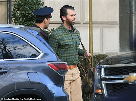 trump donald jr apartment girlfriend spotted camo kimberly leaving guilfoyle bag hand he shirt pants friday orange girlfriends plaid belt