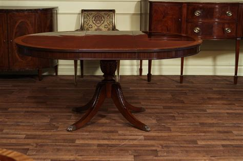48 kitchen table with leaf 48 quot to 66 quot oval mahogany dining table reproduction