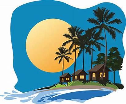 Bali Clipart Resort Vector Beach Clip Tropical