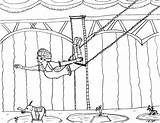 Trapeze Coloring Pages Showman Greatest Circus Artist Robin Redo Female sketch template