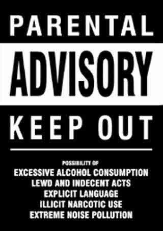 funny bedroom door signs   parental advisory