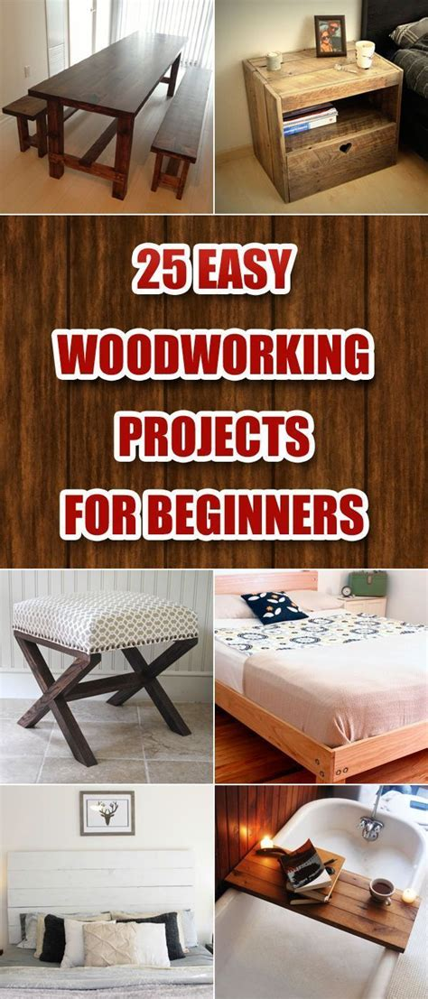 woodworking projects ideas  pinterest easy
