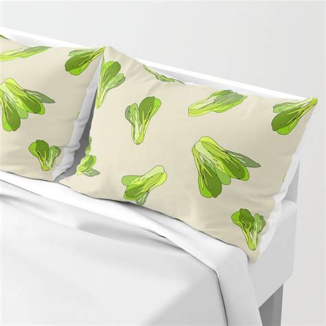 The cruciferous vegetable belongs to the mustard family along with cabbage, turnips, broccoli, and kale. Lettuce Bok Choy Vegetable Pillow Sham by notsniw | Society6
