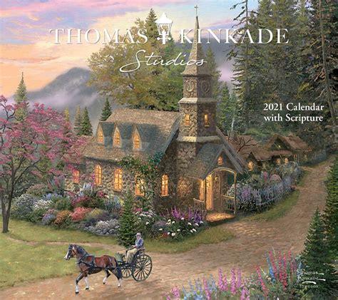 thomas kinkade studios  deluxe wall calendar