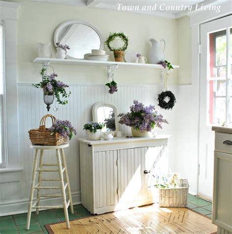 lilac kitchen accessories decorating with lilacs and white ironstone town 3794