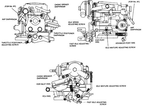1982 Toyotum 22r Carb Wiring Diagram by Repair Guides Idle Speed And Mixture Adjustment
