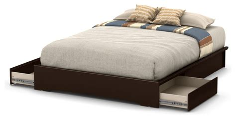 South Shore Basic Queen Platform Bed With 2 Drawers