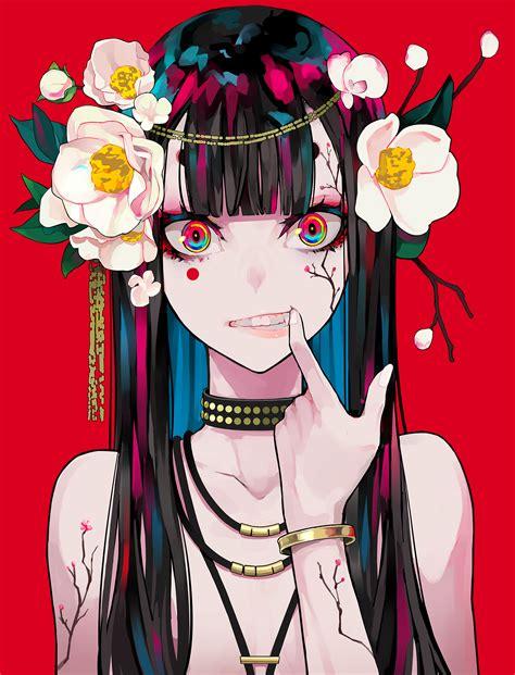 wallpaper women anime girls portrait display artwork