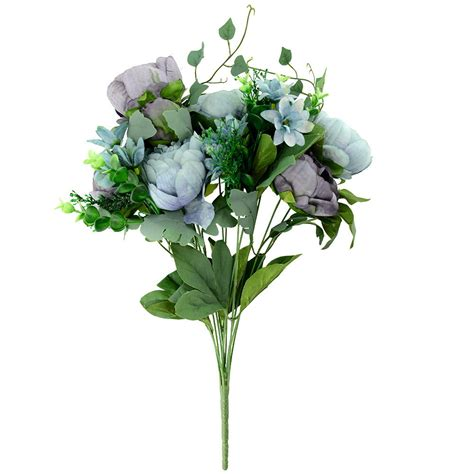 artificial peony silk flowers bridal hydrangea