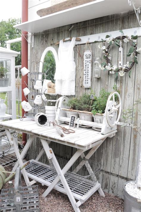 Garden Tables by 58 Awesome Potting Benches For Every Gardener Shelterness