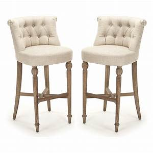 Tufted Amelie Bar Stools - Old Provence