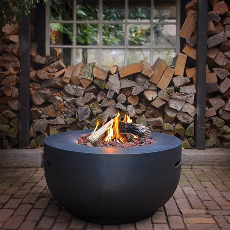 gas pit bowl bowl cocoon gas pit in black norfolk leisure