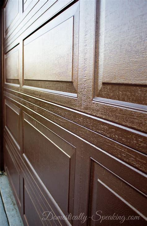 staining wood doors diy gel stain garage door update domestically speaking