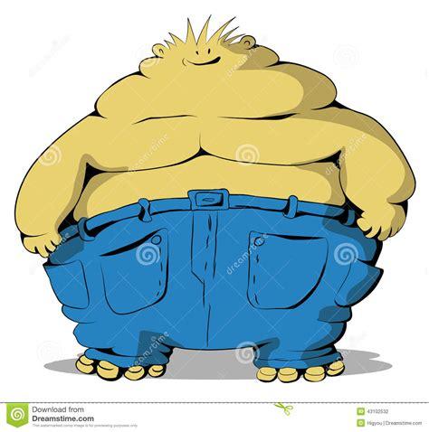foto de Fat Guy stock vector Illustration of cutout illustration