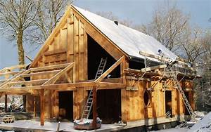 Maison En Bois Construction : photo maison bioclimatique en construction ~ Melissatoandfro.com Idées de Décoration