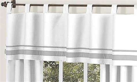 White And Silver Valance by Hotel White Gray Valance Blanket Warehouse