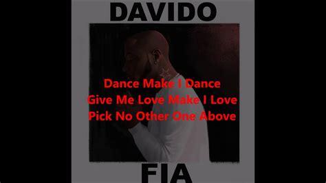 davido fia fire lyrics video youtube