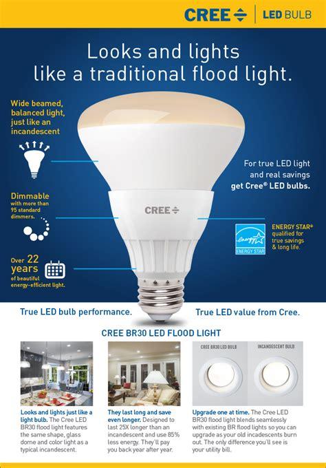 8 cree led br30 daylight flood light bulbs 9w 65watt