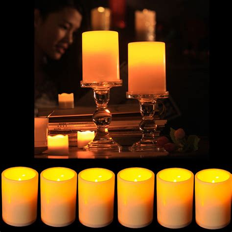 flickering led candle lights battery powered flameless led candle flickering tea light