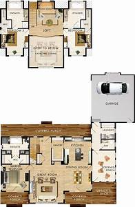 Lake, House, Plans, With, Loft, 2021