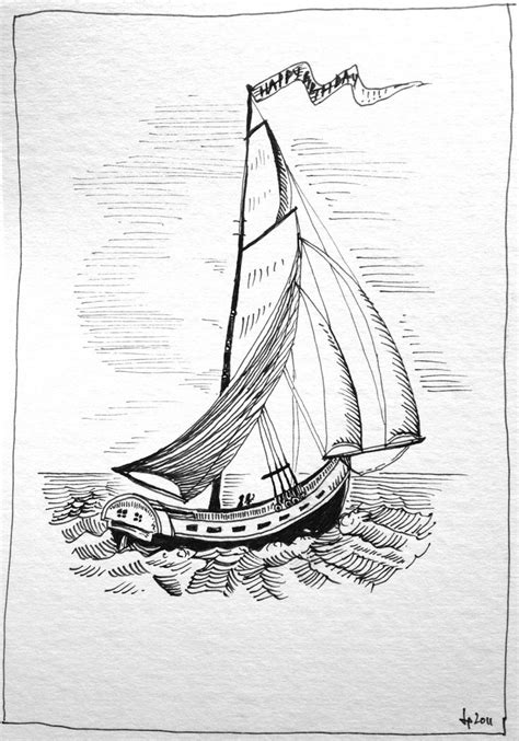 Sailboat, pen & ink | Ink drawings | Pinterest | Sailboats, Ink and Pens