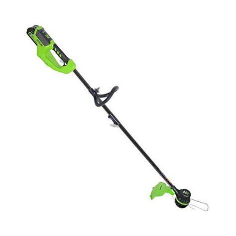 greenworks st40l00 g max 40v brushless string trimmer 14 quot