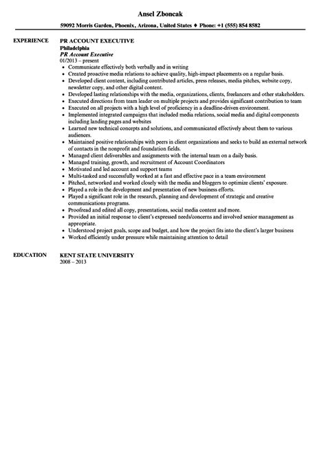 relations account executive resume sle velvet