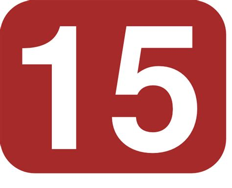 Brown Rounded Rectangle With Number 15 Clip Art at Clker