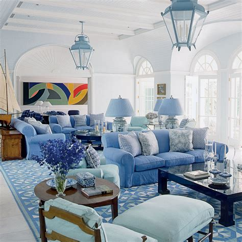 blue and white decor geometric home accents blue and white beach house decorating coastal living