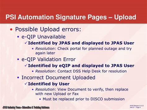 Dss Eqip Help Desk by Ppt Electronic Of Signature Pages Developed