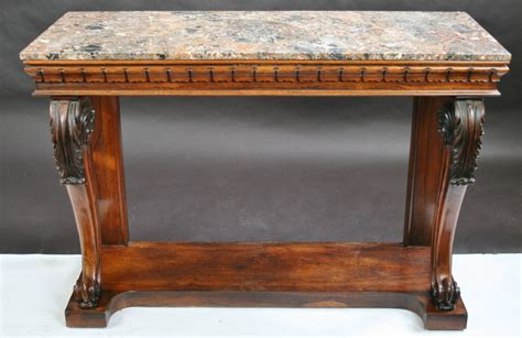 marble top sofa table regency rosewood marble top console table 294236