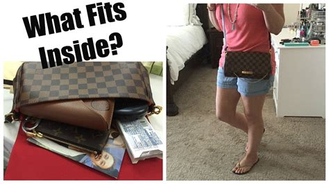 louis vuitton favorite mm review  fits  youtube