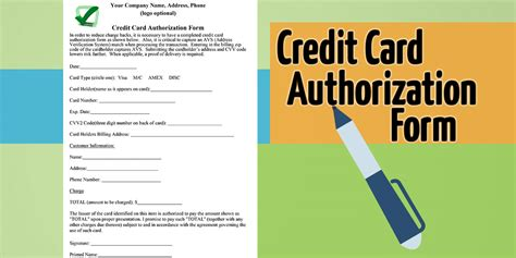 The law regulates credit reporting and ensures that only business entities with a specific, legitimate purpose, and not members of the general public, can check your credit without written permission. Authorization For Credit Card Use - Free Forms Download!!