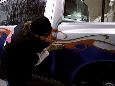 nissan titan custom paint job graphics pinstriping