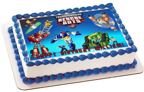 transformers rescue bots  edible cake  cupcake topper