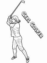 Coloring Golf Pages Golfer Sheet Printable Players Yescoloring Course Onlinecoloringpages Golfers Gallant sketch template