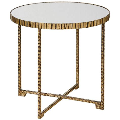 gold end table nairobi regency mirrored black gold side table 4876