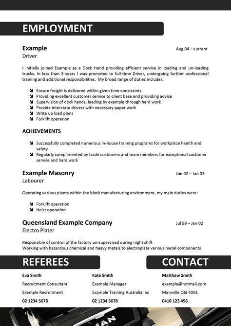 Truck Driving Resume Australia by We Can Help With Professional Resume Writing Resume Templates Selection Criteria Writing