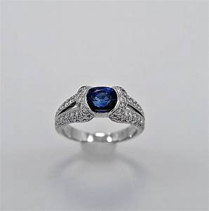 estate engagement ring 175ct sapphire diamond With estate wedding rings