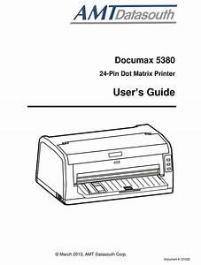Amt Datasouth Documax 5380 User Manual Pdf Download