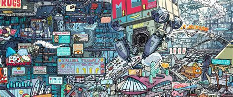wallpaper digital art city street cityscape comics