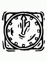 Coloring Clock Library Clipart Clip sketch template