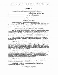 sample mortgage form blank mortgage example template With blank mortgage document