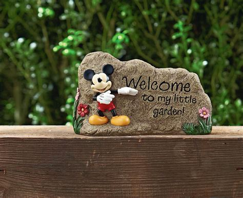 mickey mouse garden rock keep your yard bright and cheery