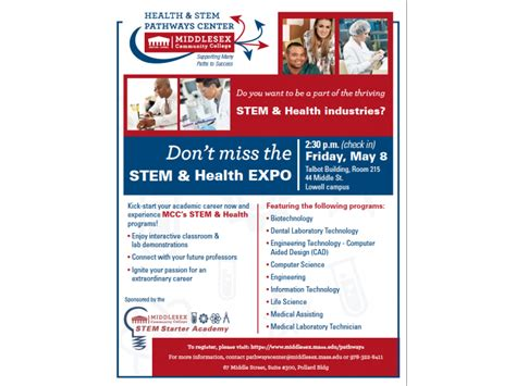 middlesex community college  host stem health expo